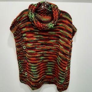 Multi color knit sweater / poncho??